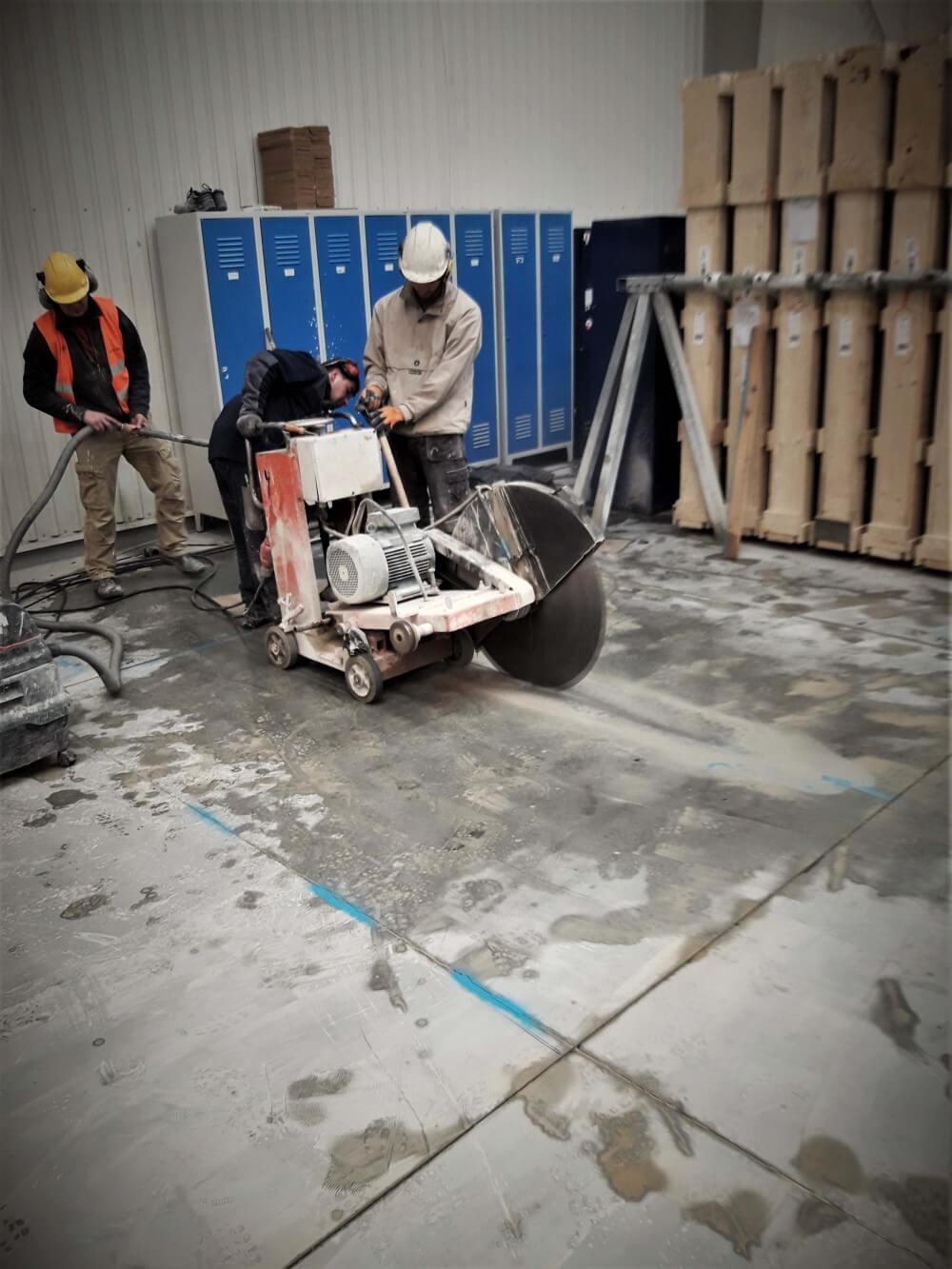 Cięcie posadzki betonowej zbrojonej